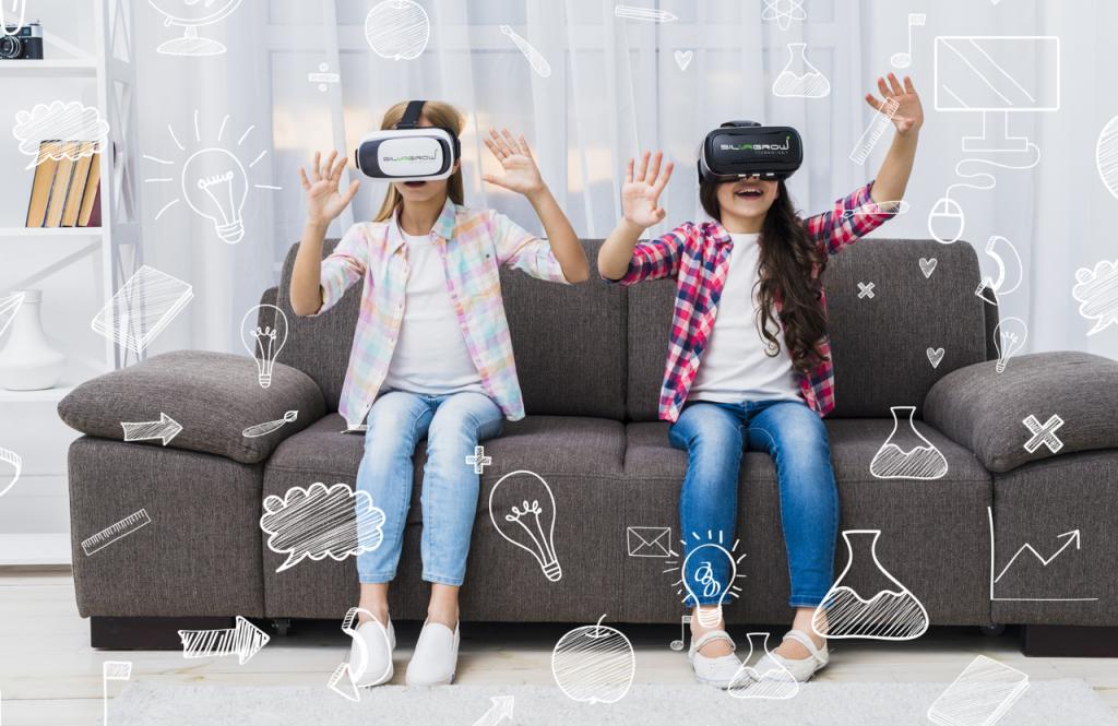 Students experience silvrgrow VR FutureClass